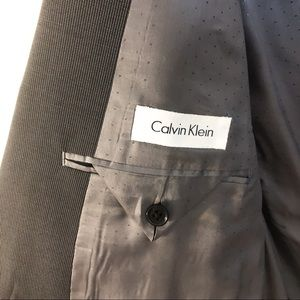 Calvin Klein Suits & Blazers - Calvin Klein | Mens 100% Wool Grey Suit 36W 42L